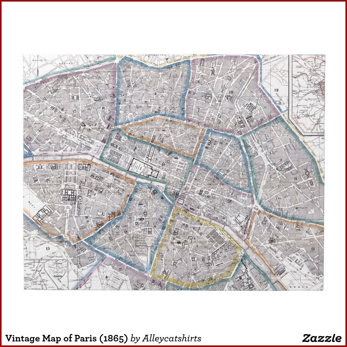 Paris Map Jigsaw Puzzle