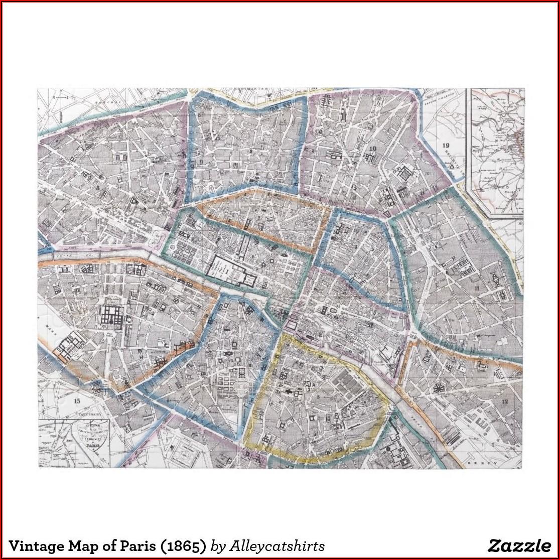 Paris Map Jigsaw Puzzle