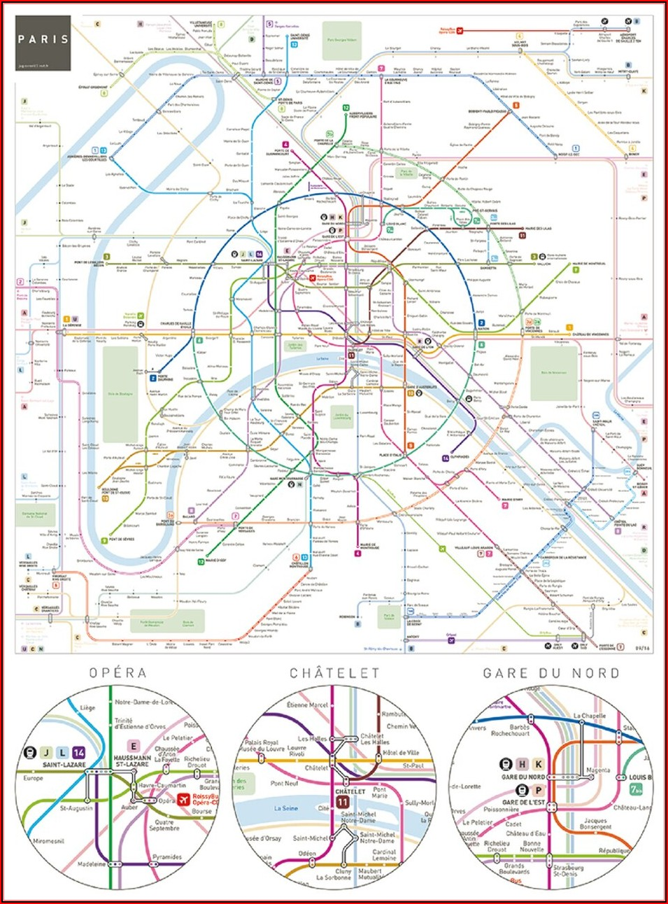Paris Metro Map Jigsaw Puzzle