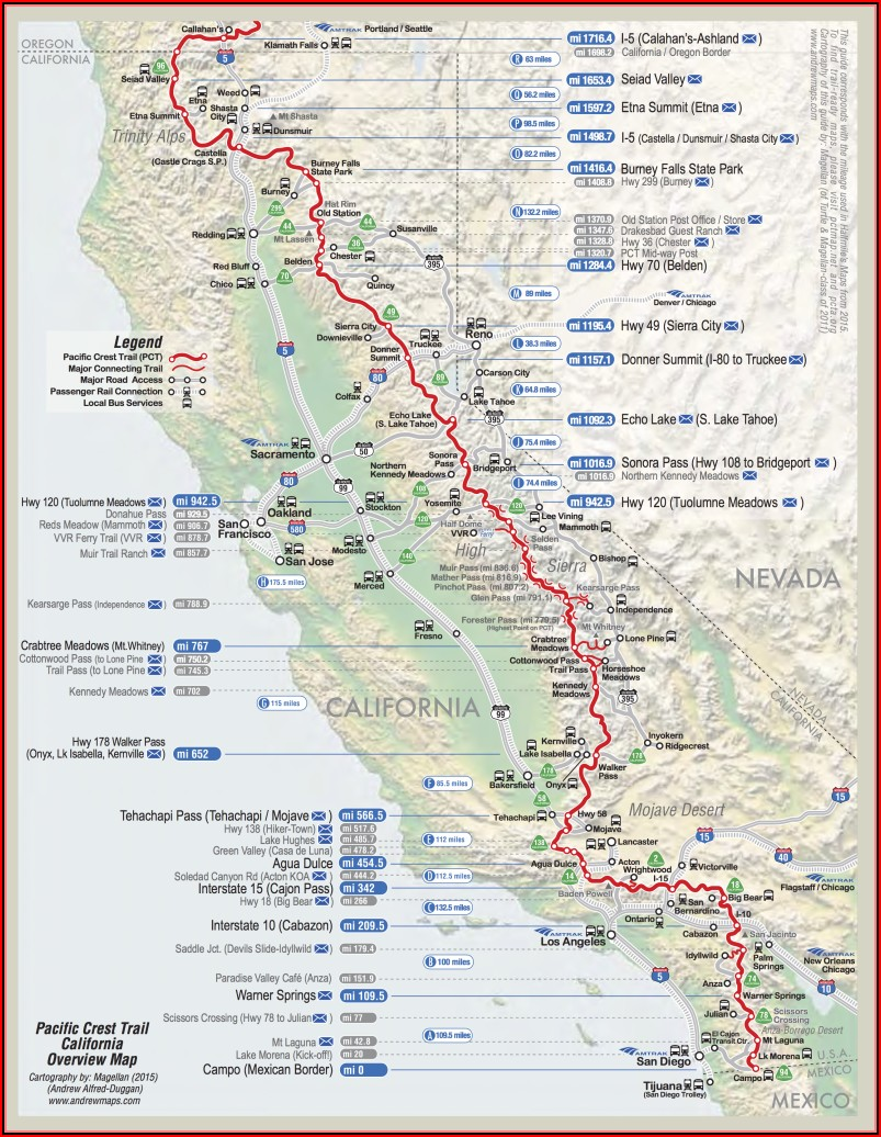 Pct Trail Maps