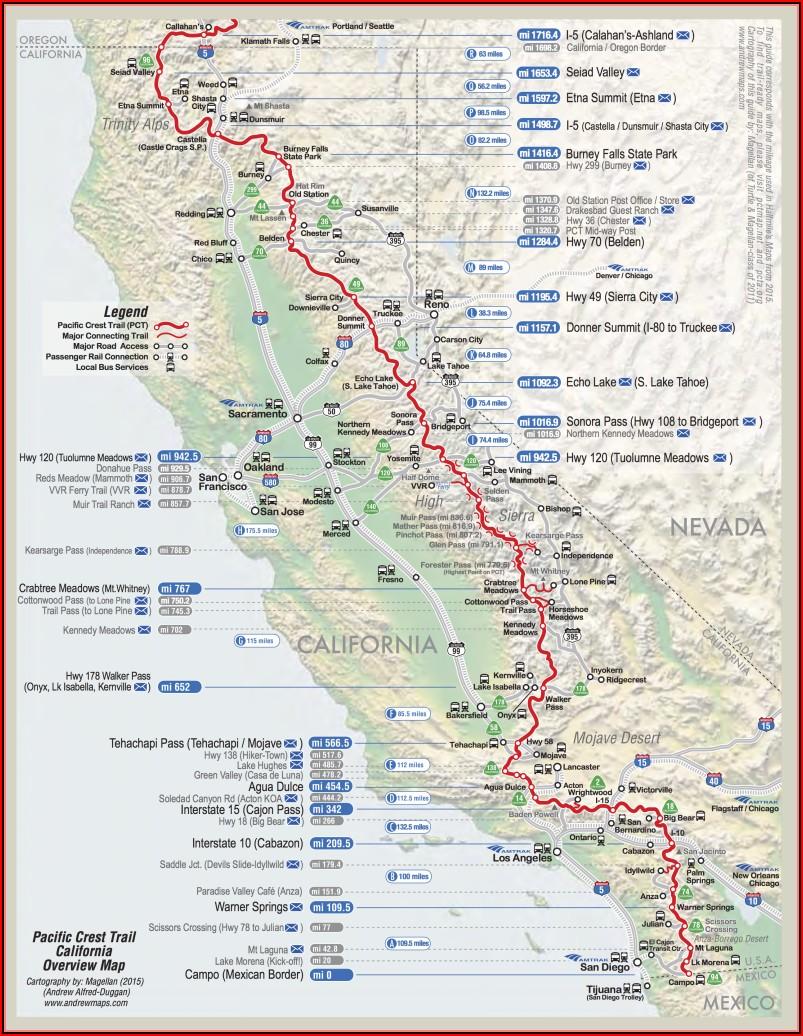 Pct Trail Maps
