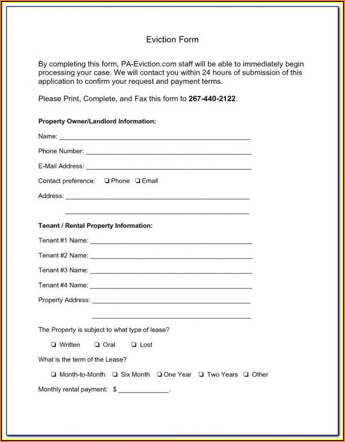 Pennsylvania Eviction Notice Sample