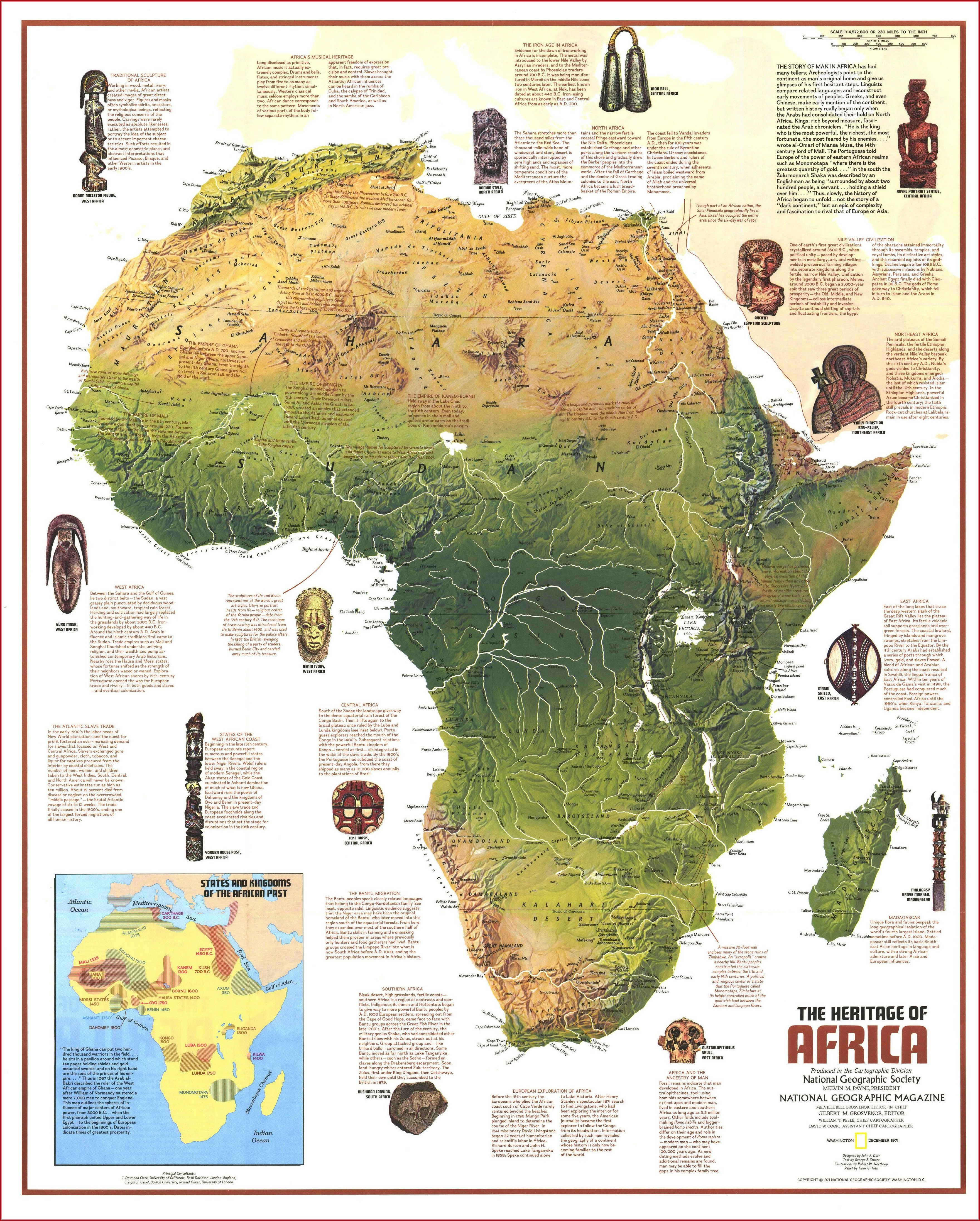 Physical Map Of Africa National Geographic
