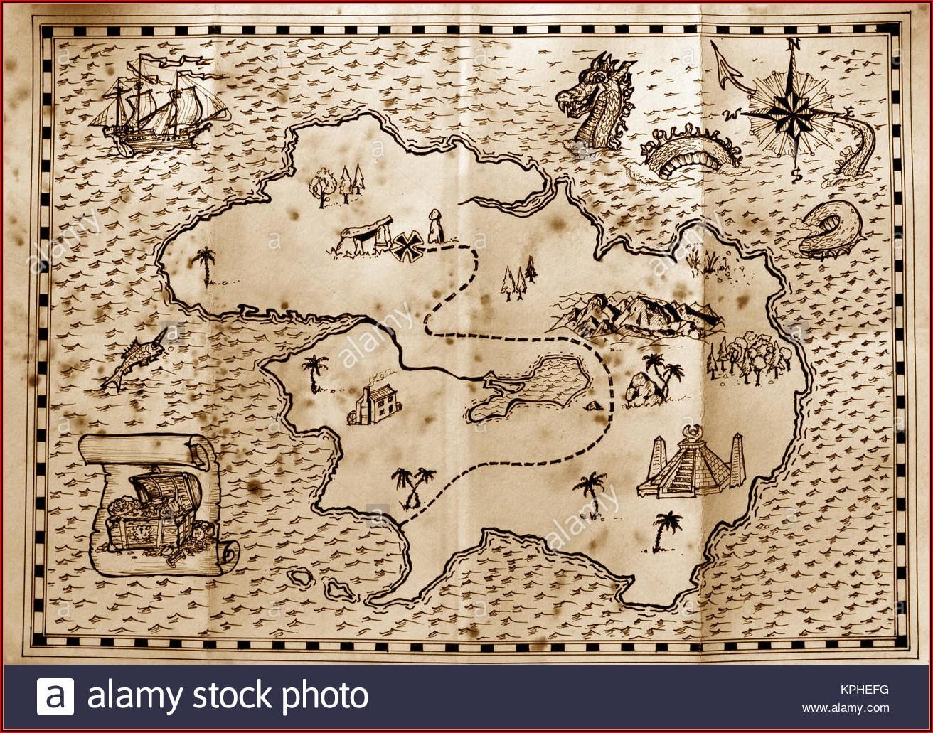Pirate Treasure Map Images