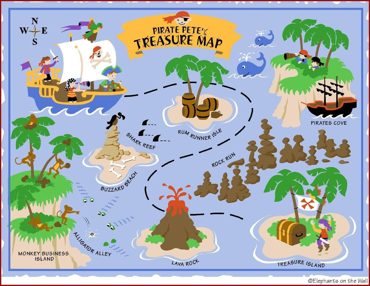 Pirate Treasure Map Printable
