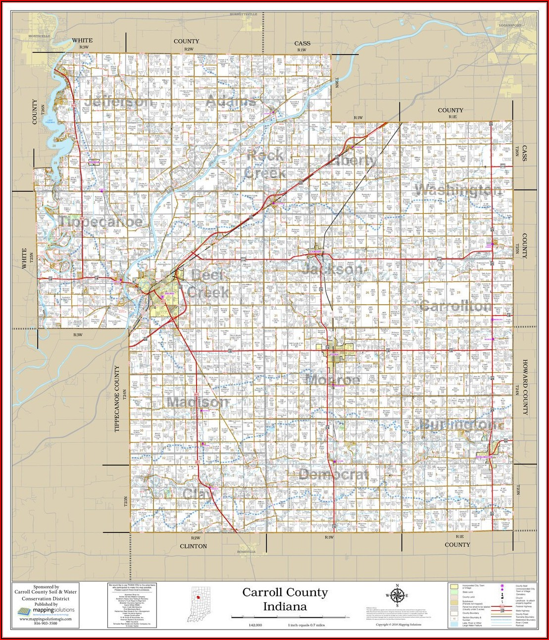 Plat Map Of Carroll County Iowa