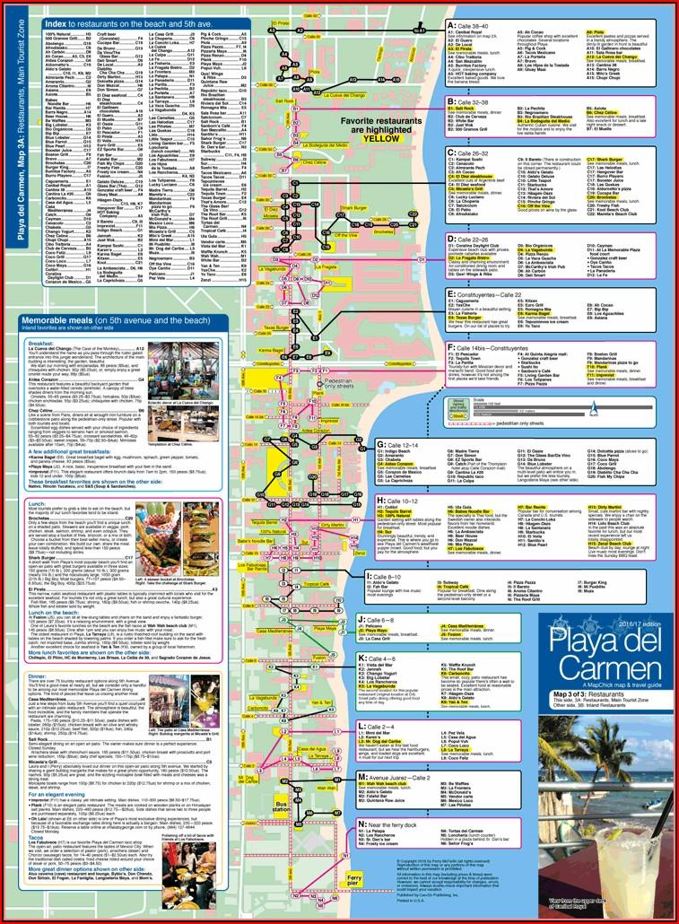 Playa Del Carmen Hotels On The Beach Map