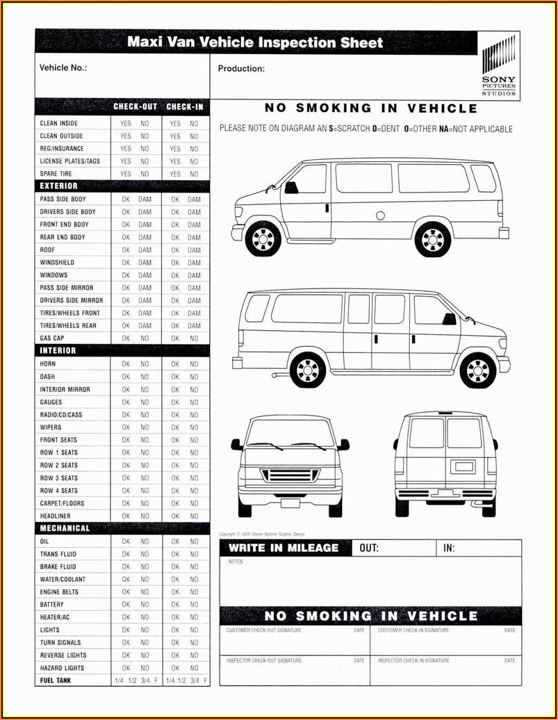 Pre Post Trip Inspection Forms