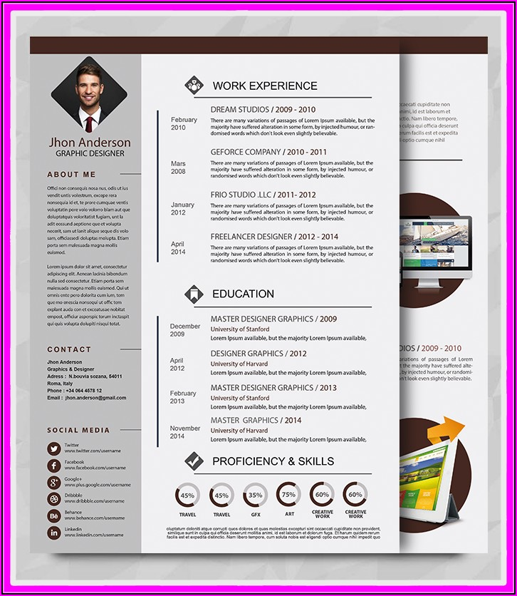 Premade Resume Templates Microsoft Word