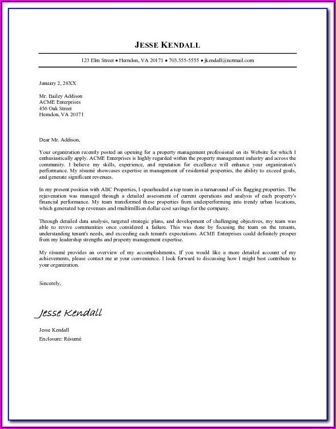 Preparing A Professional Resume And Cover Letter