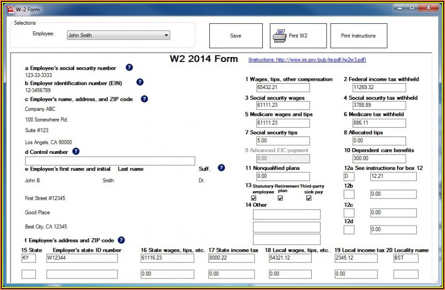Printing 1099 Forms