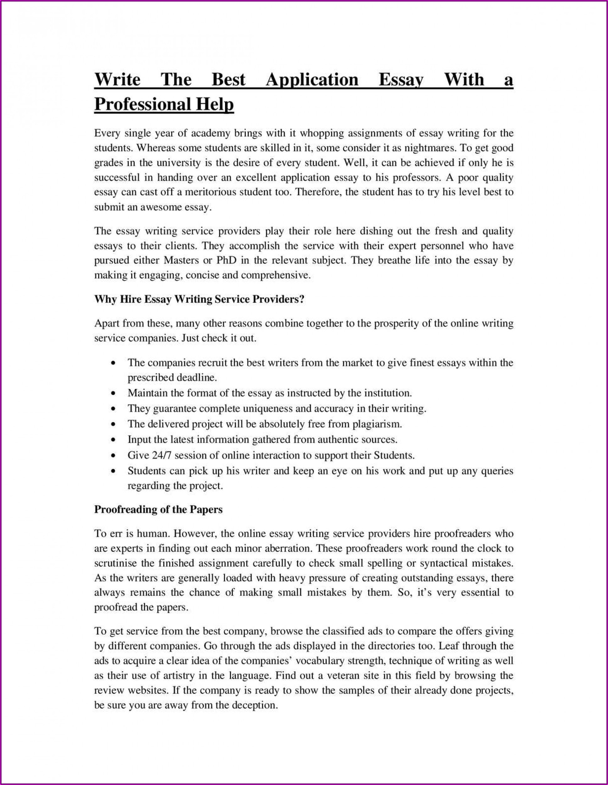 Pro Resume Writing Services
