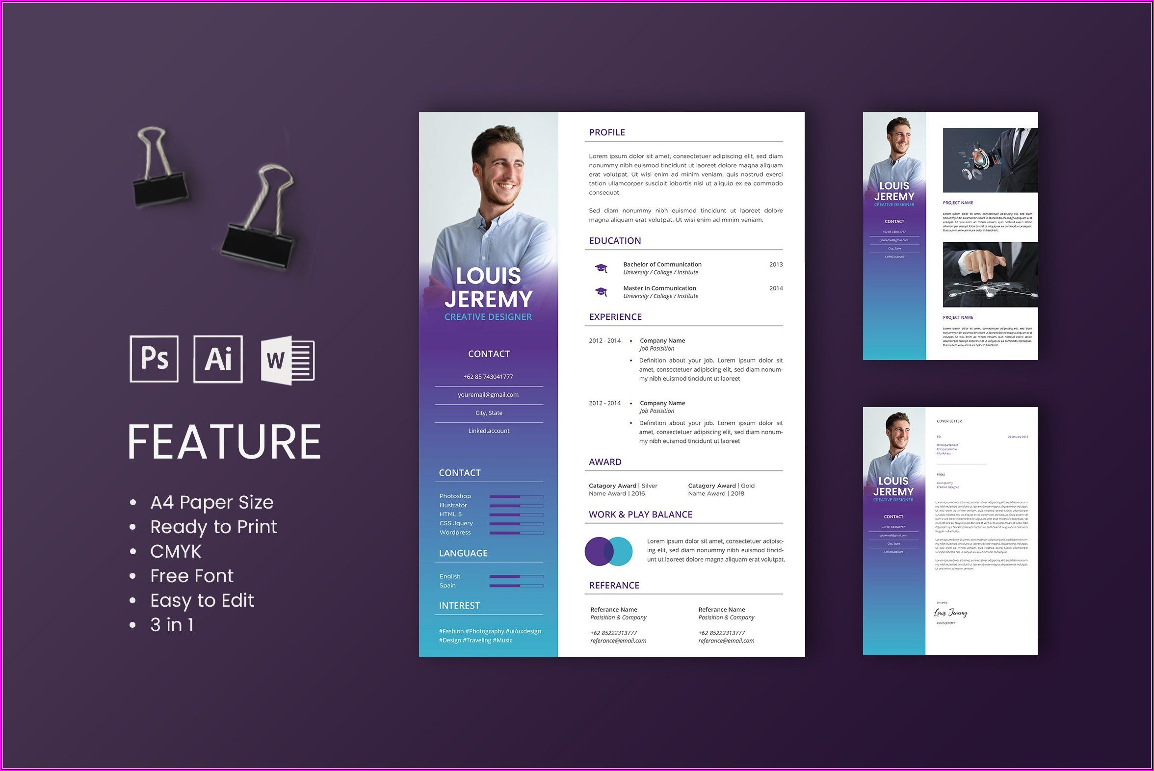 Professional Cv Design Templates