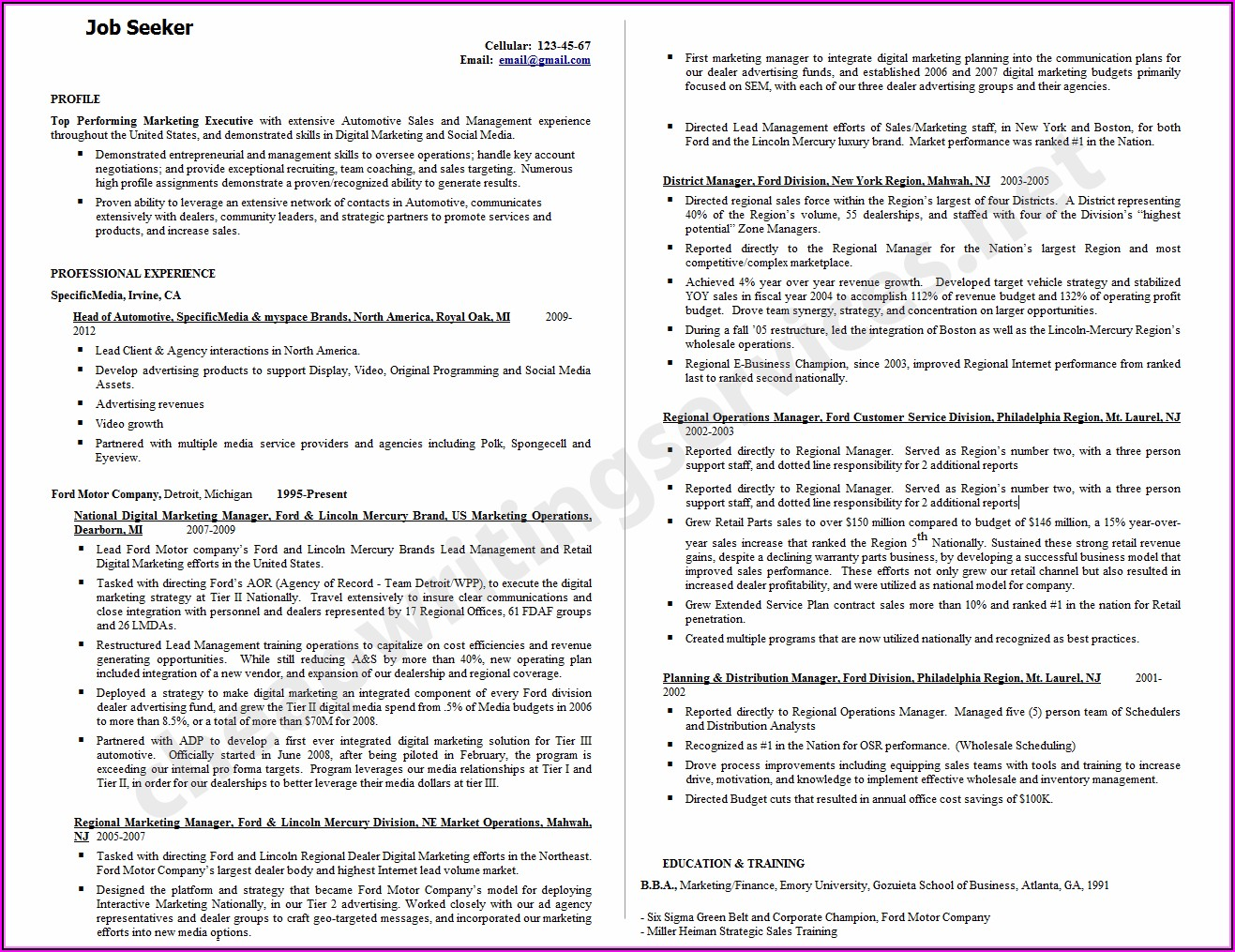 Professional Engineering Resume Writing Services