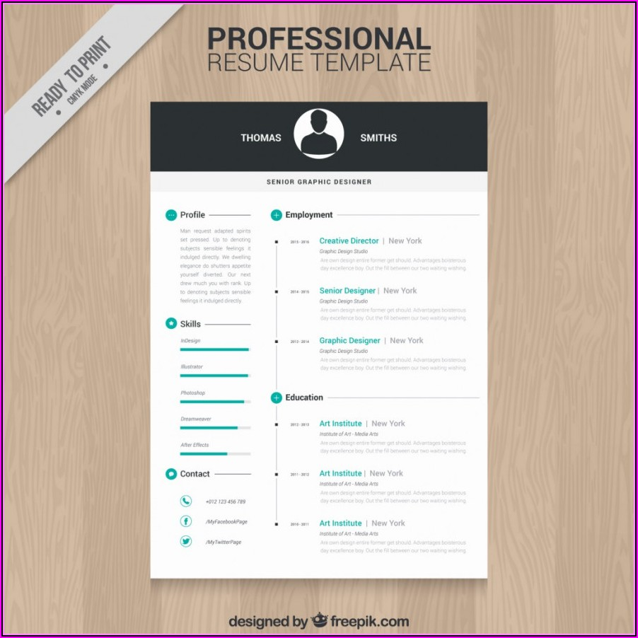 Professional Resume Design Templates Free Download