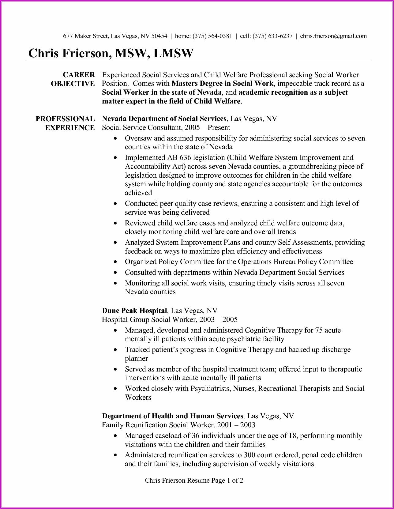 Professional Resume Writers Las Vegas Nv
