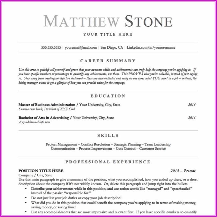 Professional Resume Writers Sydney
