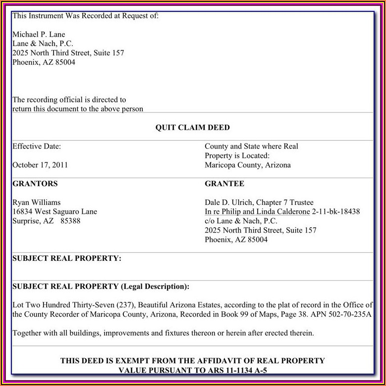 Quick Claim Deed Missouri Form