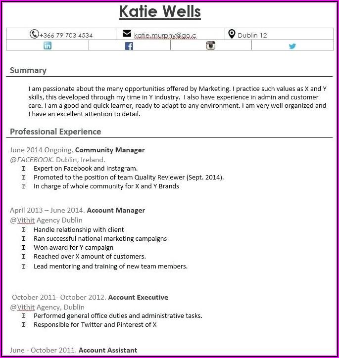 Quick Free Resume Creator