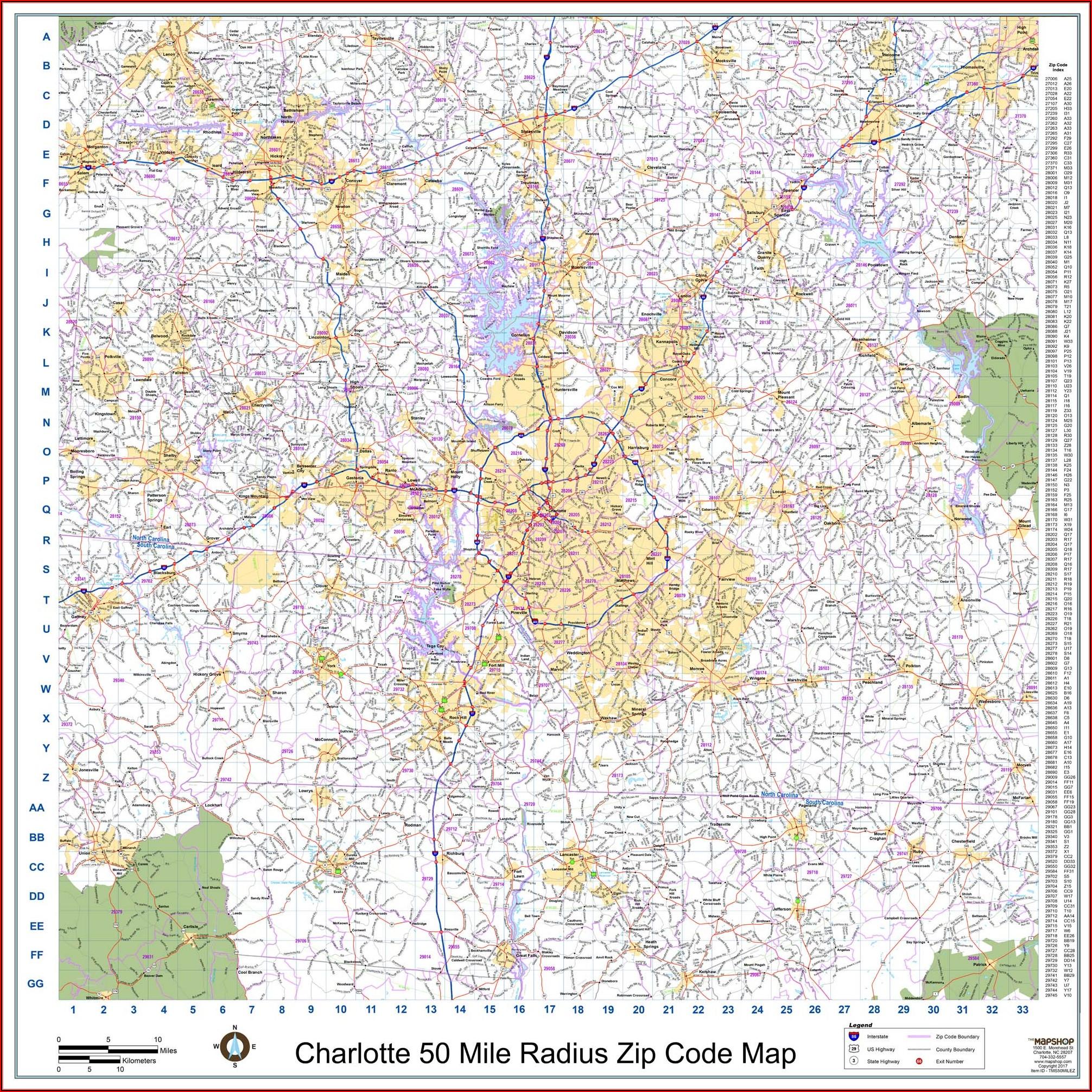 Radius Map With Zip Codes