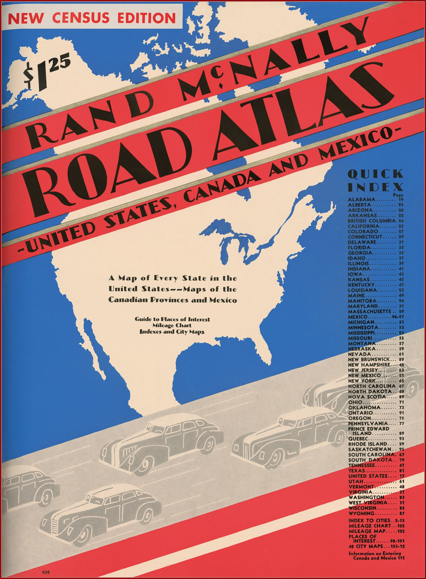Rand Mcnally Road Map Of The United States