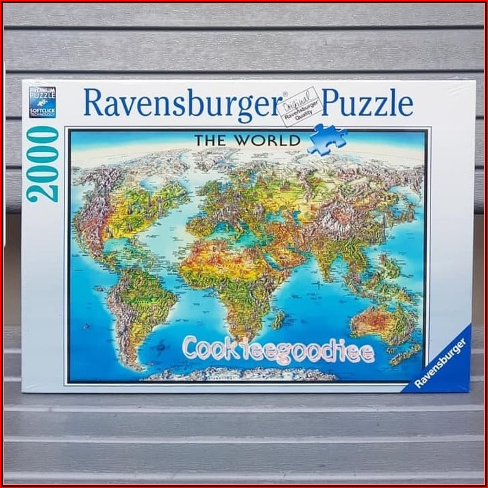 Ravensburger World Map Puzzle 2000
