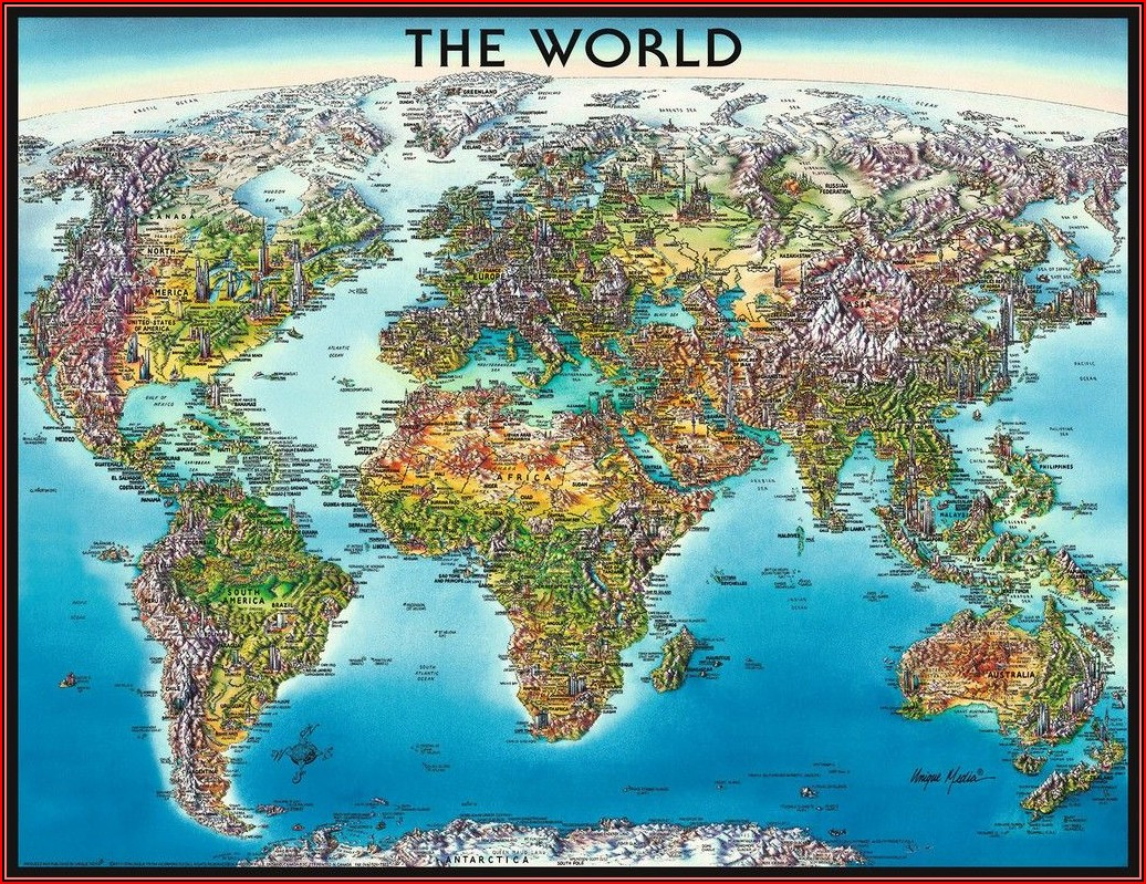Ravensburger World Map Puzzle 2000pc