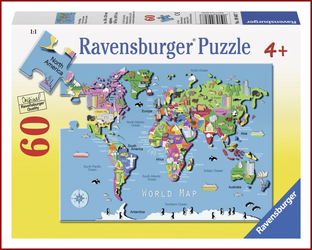 Ravensburger World Map Puzzle 60pc