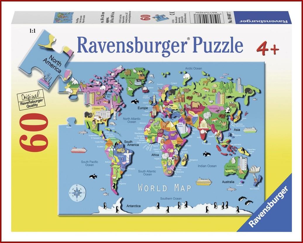 Ravensburger World Map Puzzle 60pc
