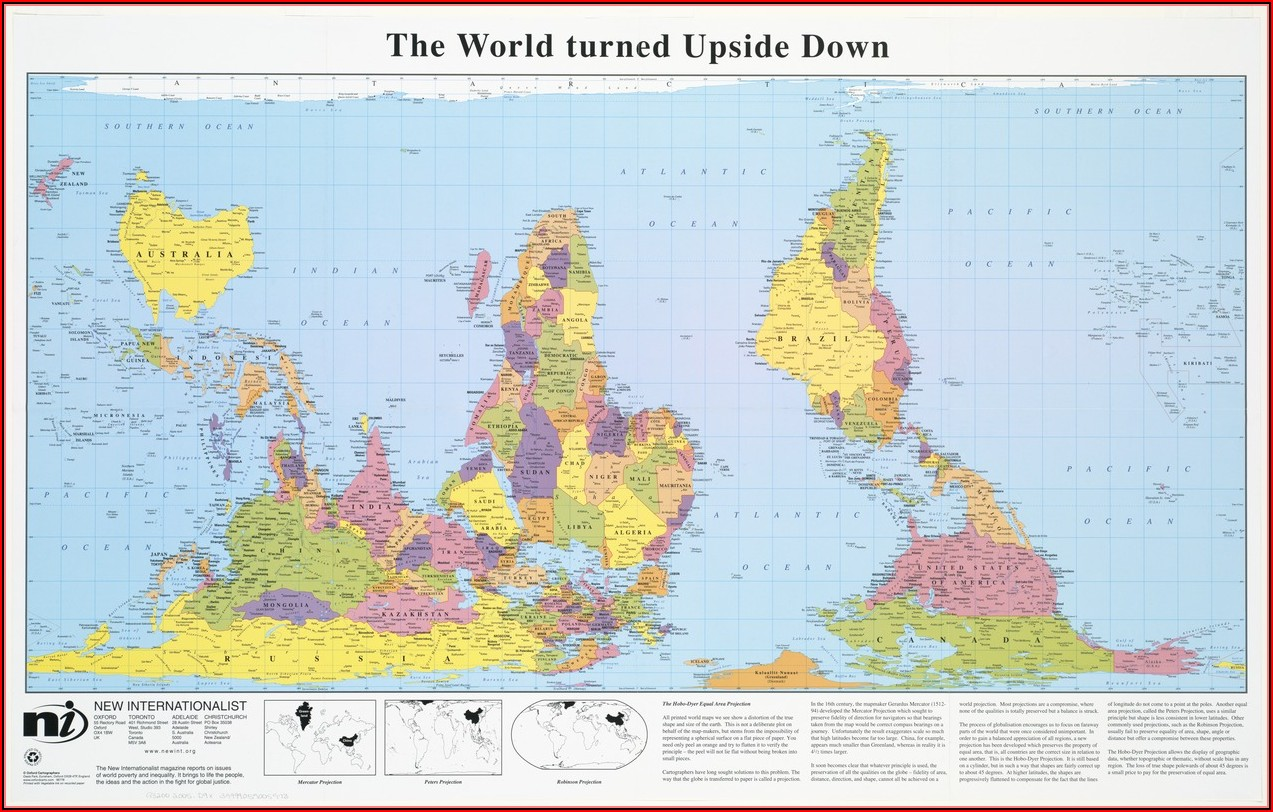 Real Map Of The World Upside Down