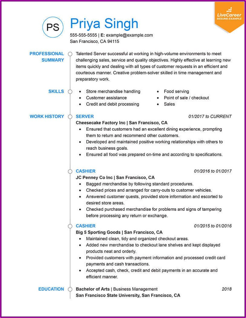 Recent Resume Formats