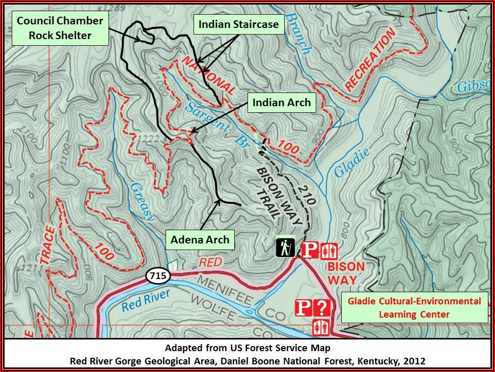 Red River Gorge Hiking Trail Maps