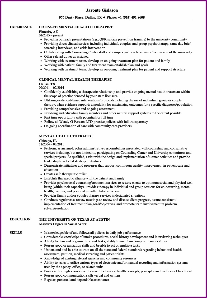 Respiratory Therapist Resume Samples Entry Level