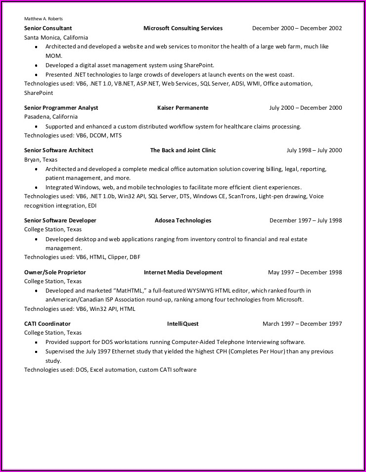 Resume Build Software