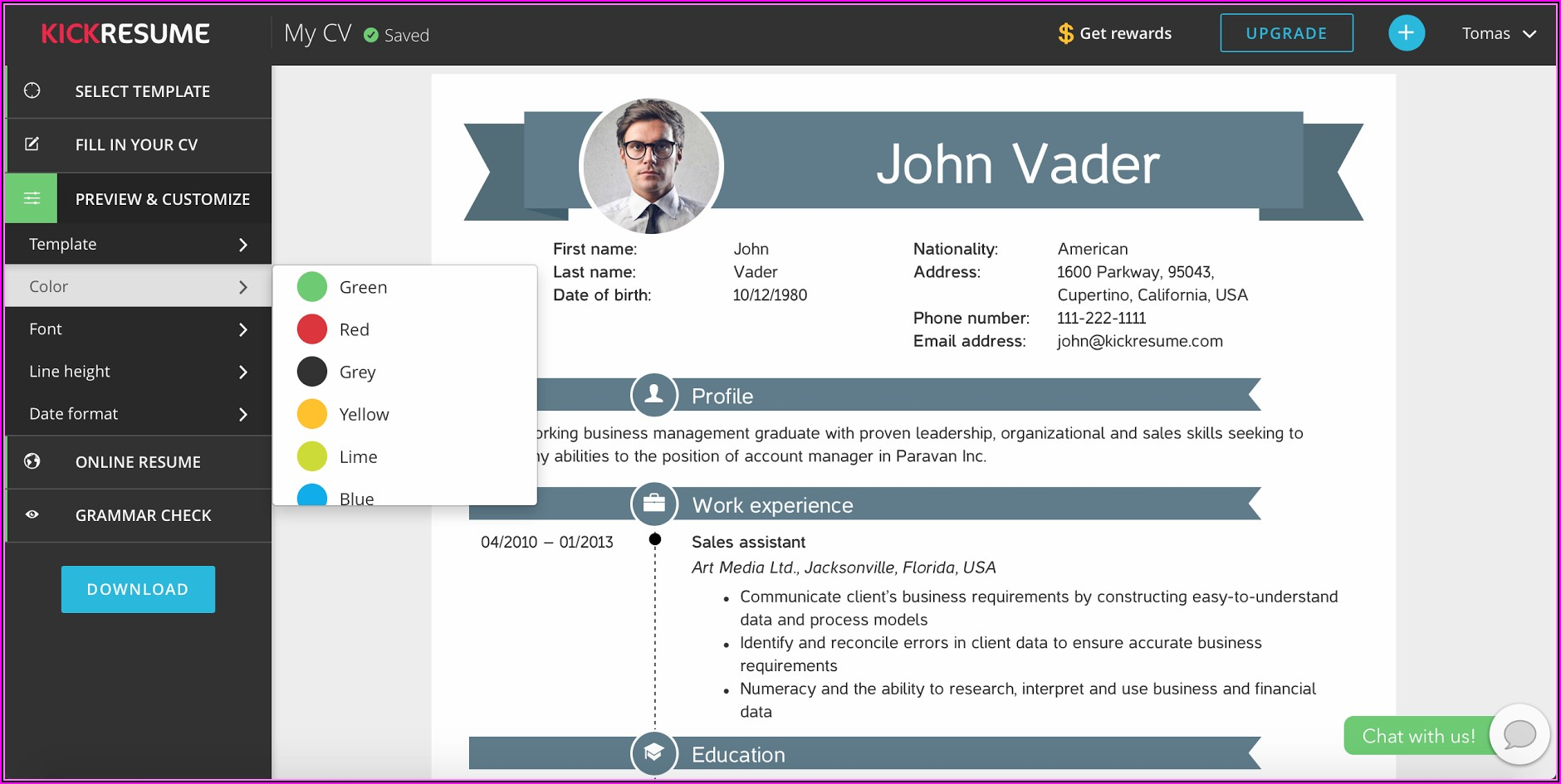 Resume Builder Free Download For Windows 10