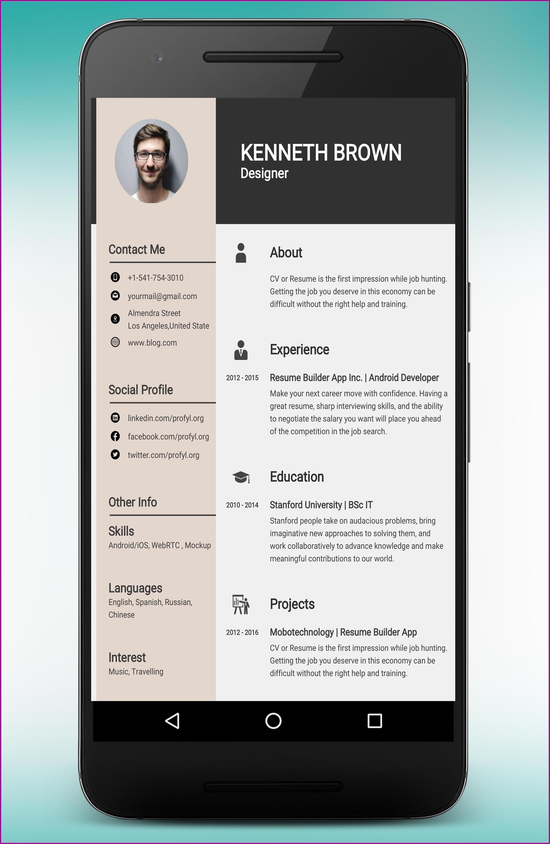 Resume Cv Maker Download