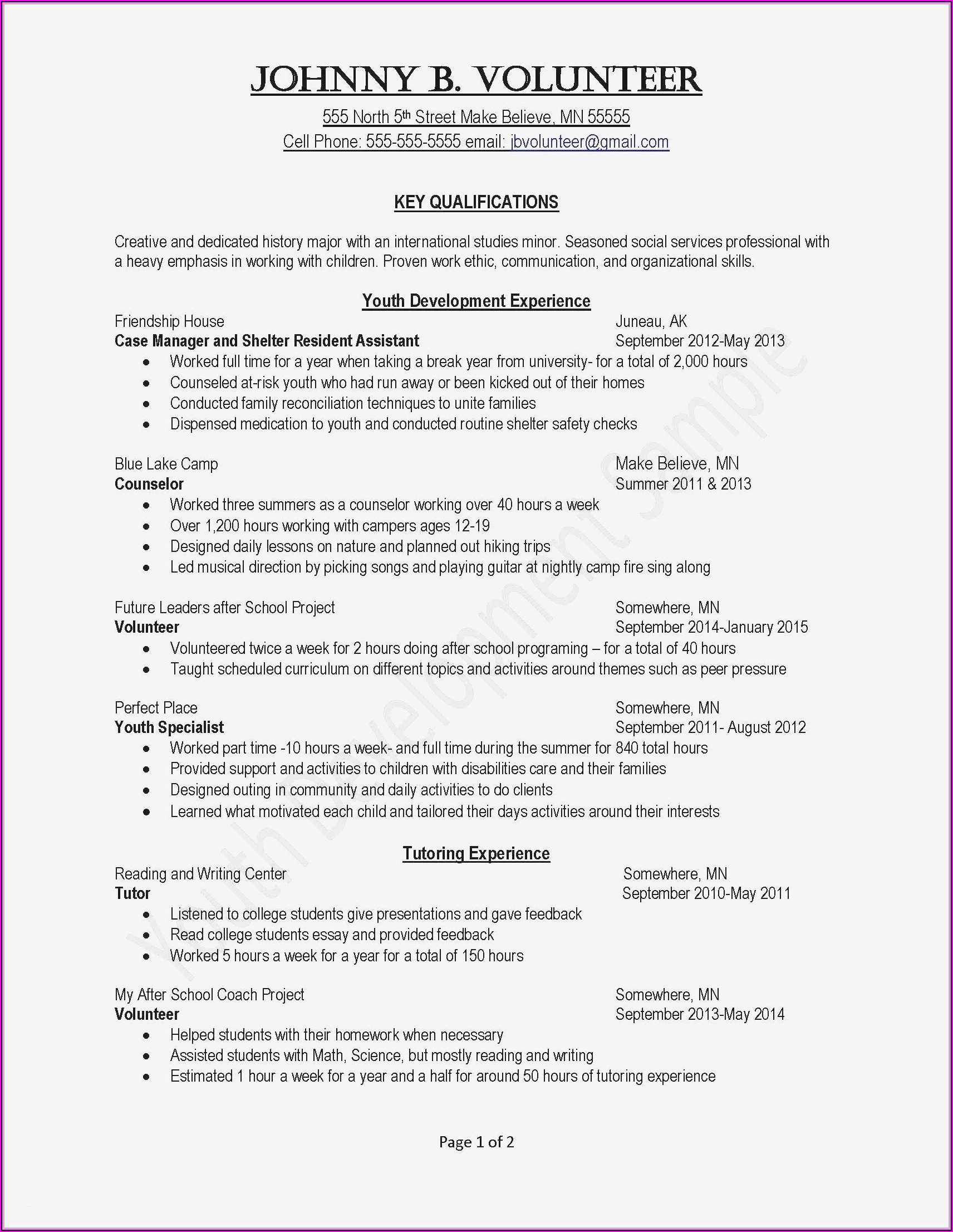Resume For Teaching Position Template