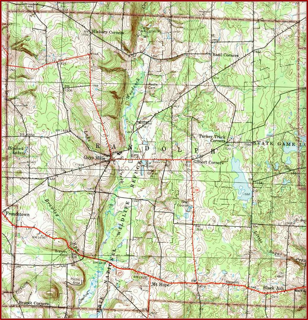 Road Map Of Crawford County Pa