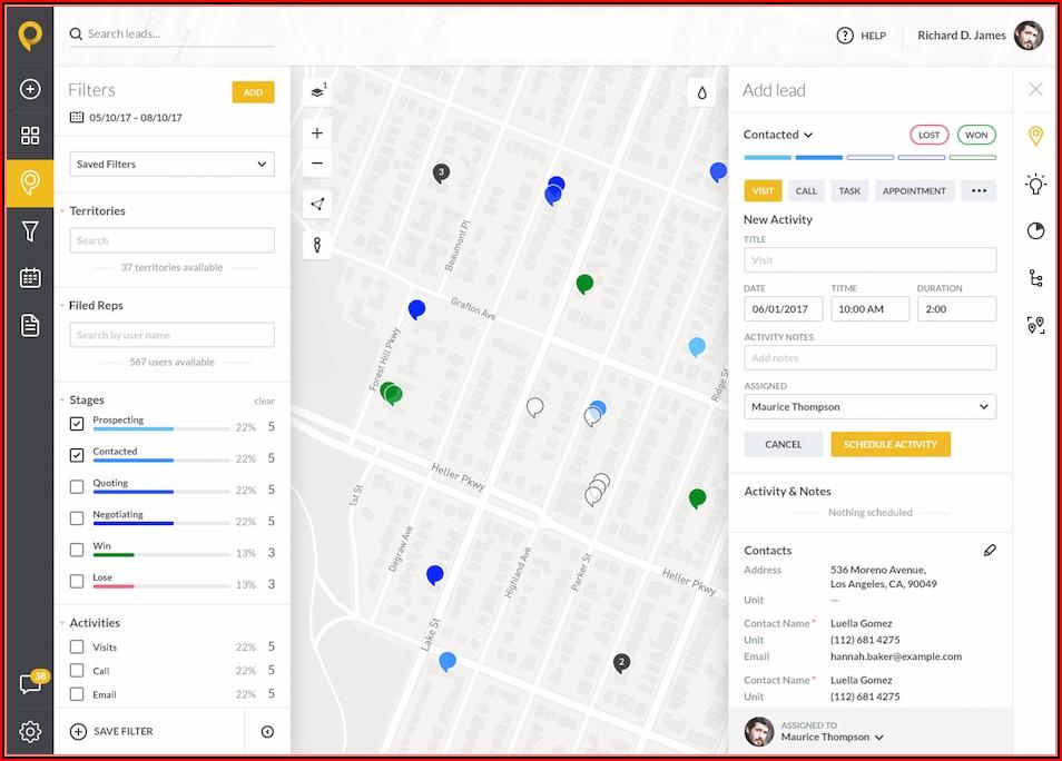 Sales Territory Google Maps