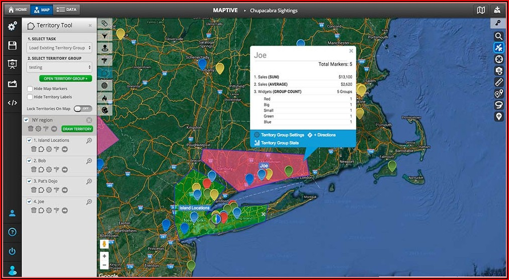 Sales Territory Mapping App