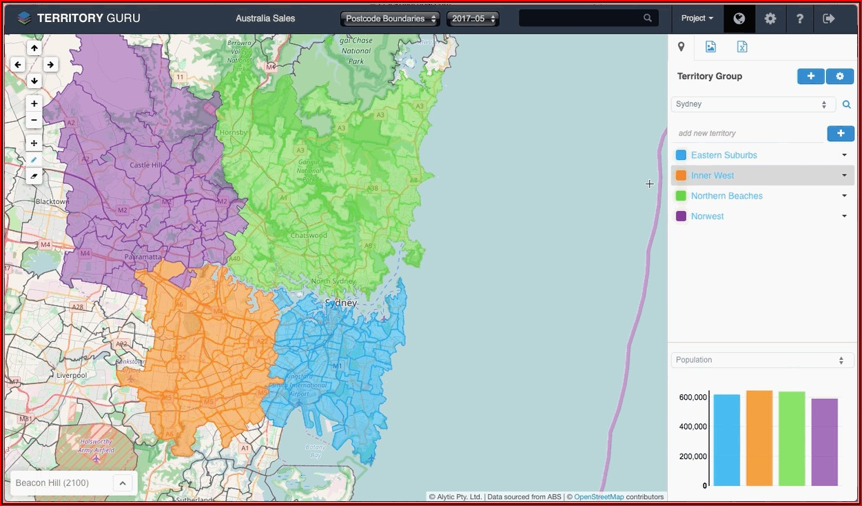 Sales Territory Mapping Software Zip Code