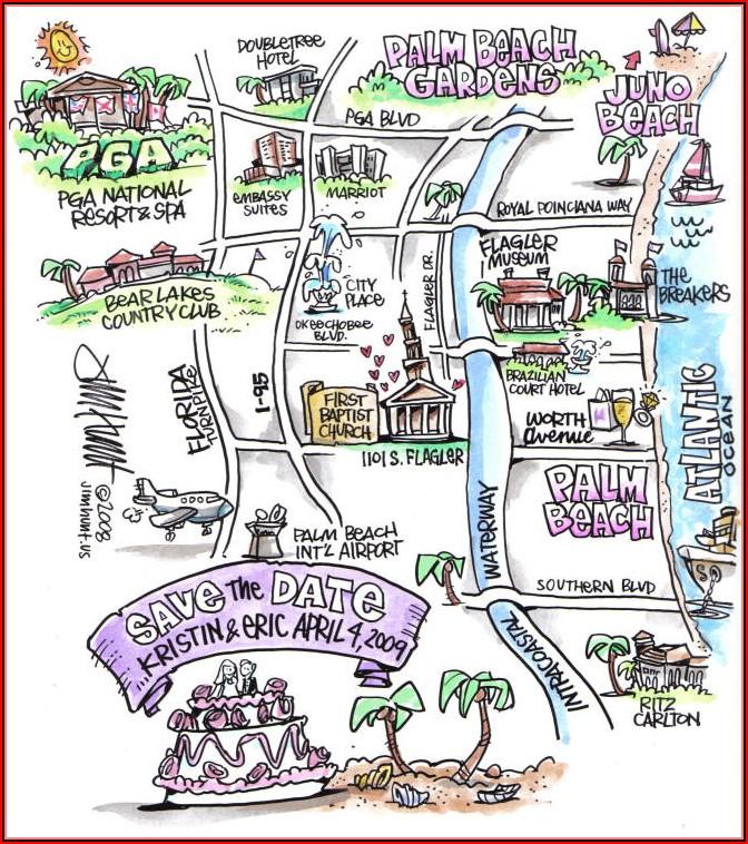 Sample Map For Wedding Invitation