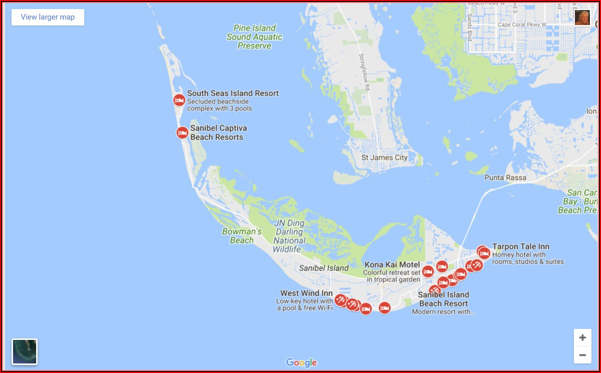 Sanibel Island Accommodations Map