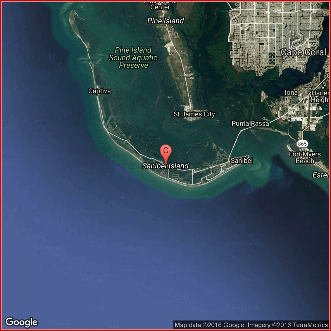 Sanibel Island Google Maps