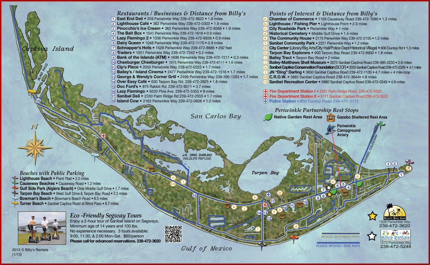Sanibel Island Maps