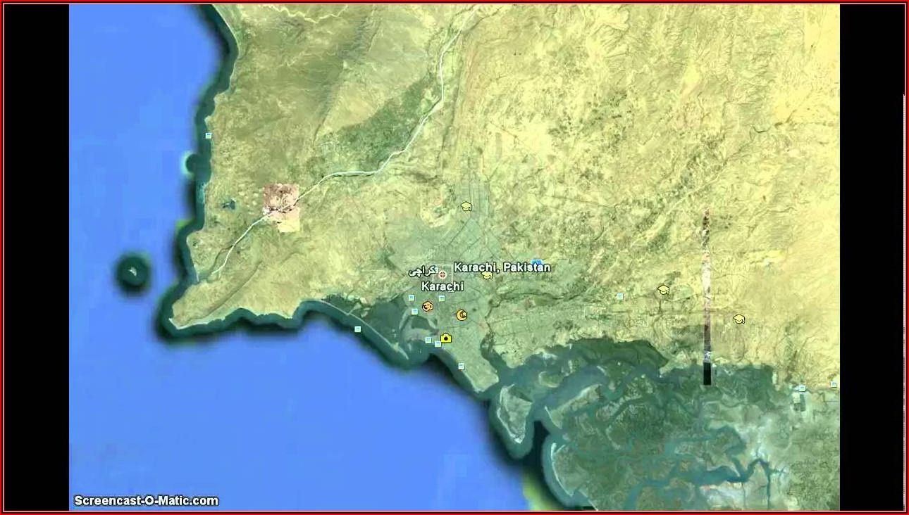 Satellite Map Of Pakistan Live Karachi