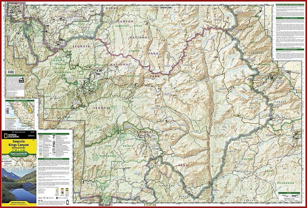 Sequoia National Park Trailhead Map