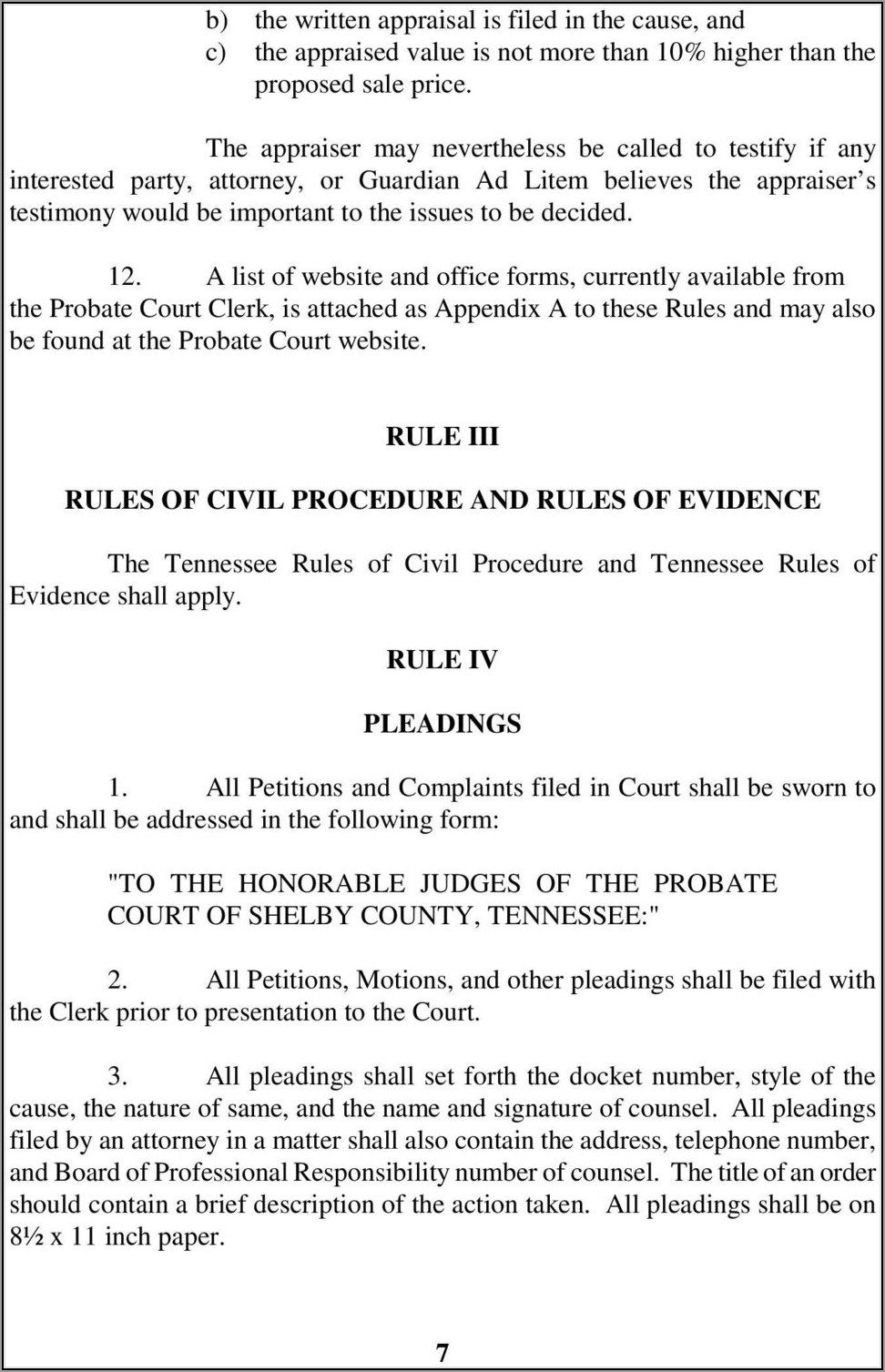 Shelby County Circuit Court Forms