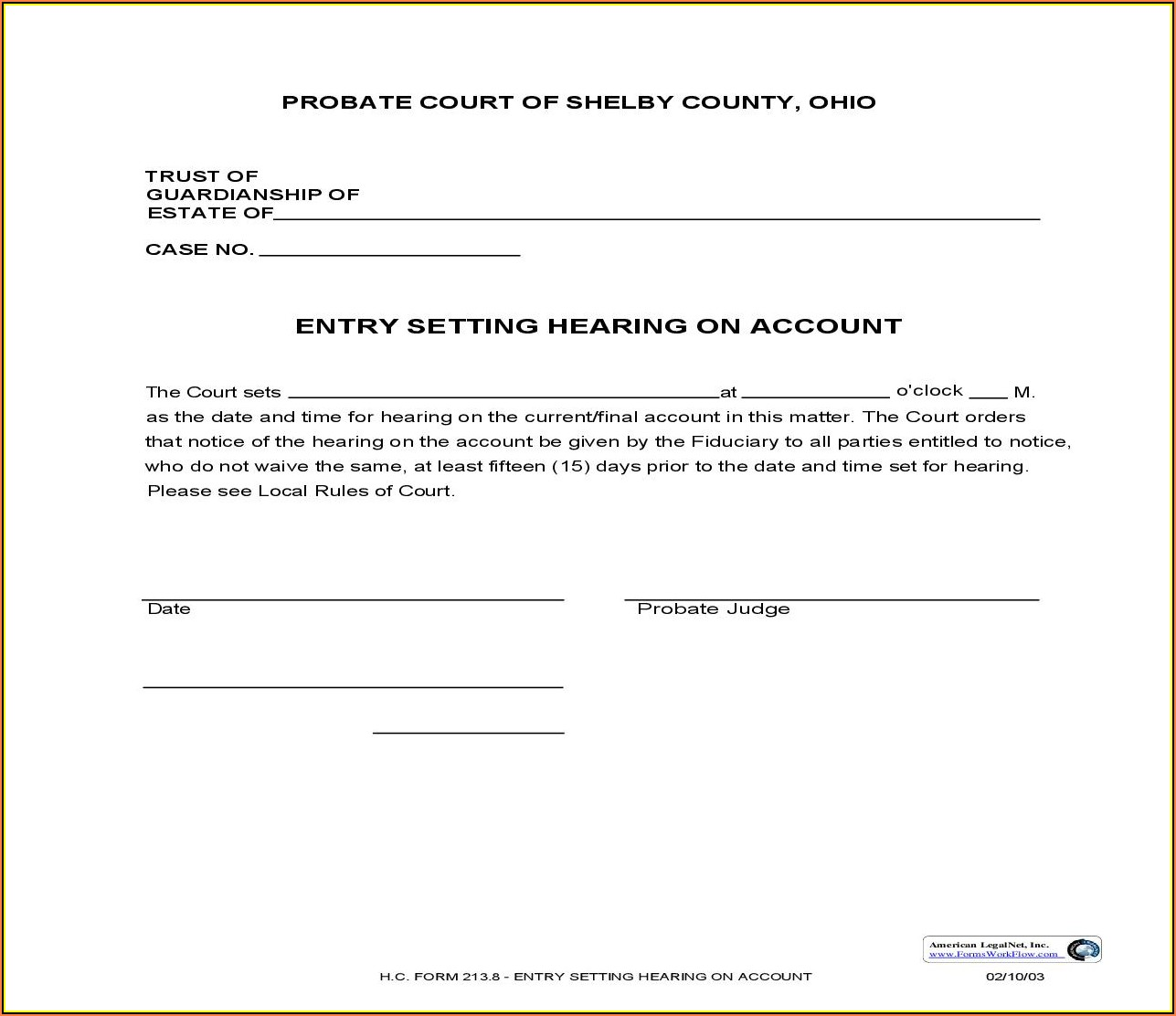 Shelby County Court Forms