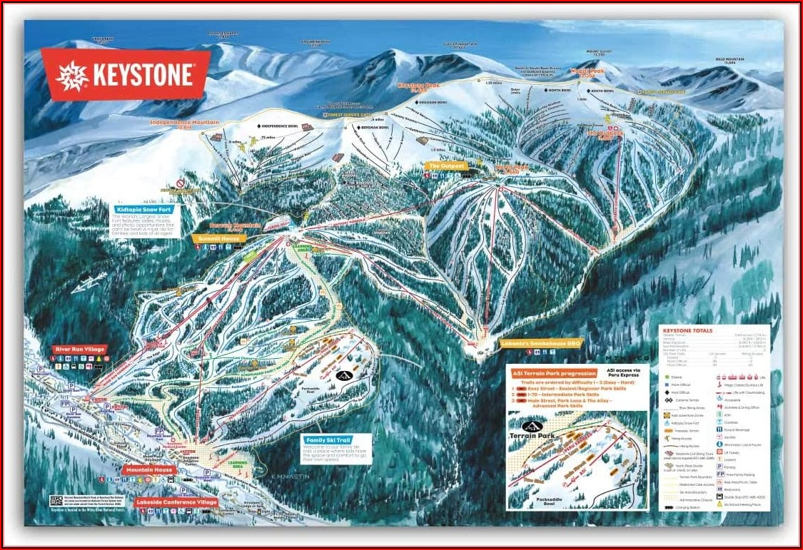 Ski Area Trail Map Posters